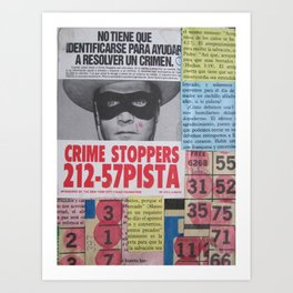 Crime Stoppers Art Print