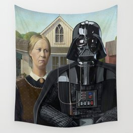 Darth Vader in American Gothic Wall Tapestry