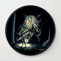berserk Wall Clocks featuring Dark by TheMagicWarrior