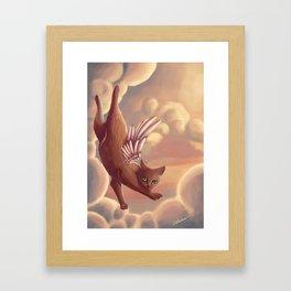 Angel Cat Framed Art Print