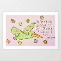 Free Bird - Pelican Art Print