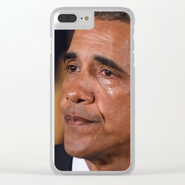 Angry Tears Clear iPhone Case