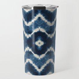 Shibori, tie dye, chevron print Travel Mug