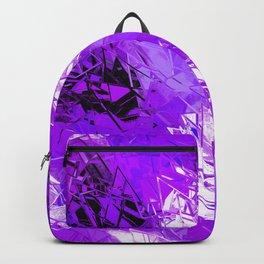 Fractured Ultra Violet Pattern Backpack