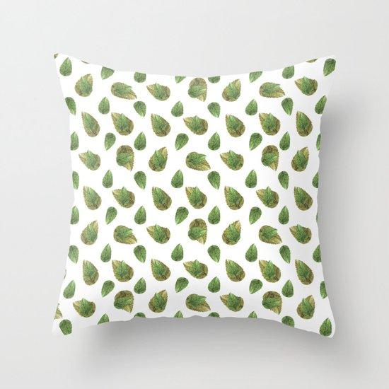 Leaves Motif Nature Pattern Throw Pillow