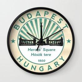 Budapest, Heroes' Square, Hosök tere, Hungary, circle Wall Clock