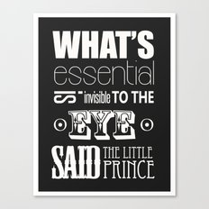 Quote from Little Prince Canvas Print