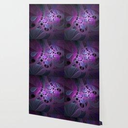 Luminous Abstract Fractal Art Pink And Blue Wallpaper