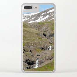 Beautiful mountain stream in Western Iceland Clear iPhone Case