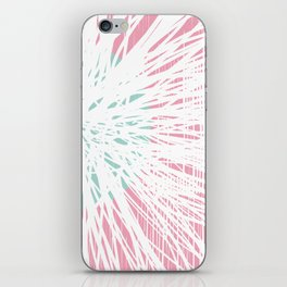 Pink Doodle Floral by Friztin iPhone Skin