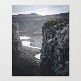 Man on the Edge Canvas Print