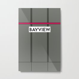 BAYVIEW | Subway Station Metal Print