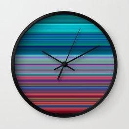 Blurry Saturn Stripes Wall Clock