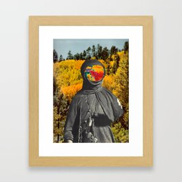 Colored Face in the Woods Framed Art Print