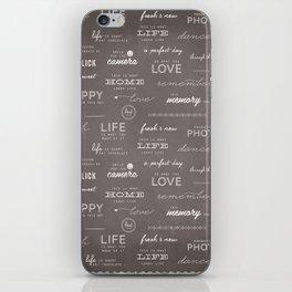 Life on a Chalkboard iPhone Skin