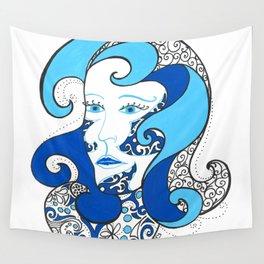 MISS OCEAN Wall Tapestry