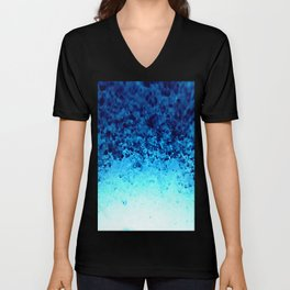 Blue Crystal Ombre Unisex V-Neck