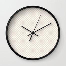 Eggnog and White Polka Dots Wall Clock