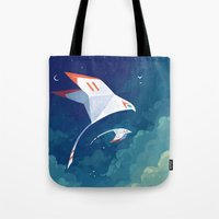 freeminds Tote Bags featuring Flyby by Freeminds