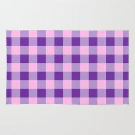 Purple and Pink Check Rug