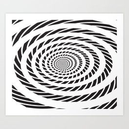 BLACK LICORICE TWIST SWIRL Abstract Art Art Print