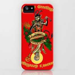 Krampus & Saint Nikolaus iPhone Case