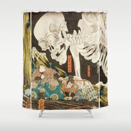 Takiyasha The Witch And The Skeleton Utagawa Kuniyoshi Shower Curtain