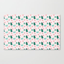 Gin and tonic pattern Canvas Print