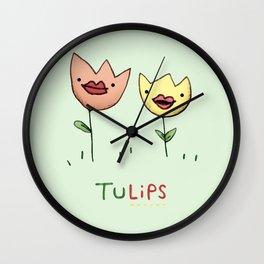 TuLIPS Wall Clock