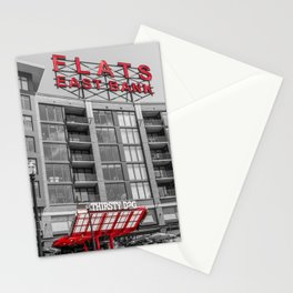 Cleveland Ohio Flats Black White Print Gifts Stationery Cards