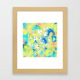 Abstract Dice Digital Art Framed Art Print