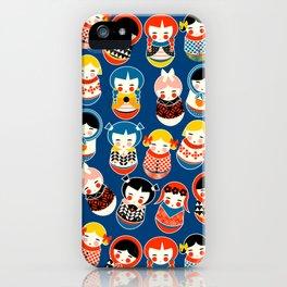 Babushka dolls vibrant pattern iPhone Case