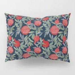 Red pomegranates on dark Pillow Sham