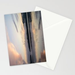 Lifting Up: Geese Rise at Dawn on Lake George Stationery Cards