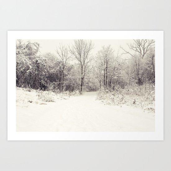 white world Art Print