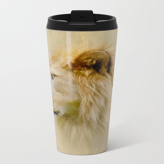 Lion III Metal Travel Mug