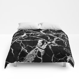 Black marble pattern Comforters