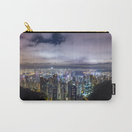 Beautiful Hong Kong city dark night view Carry-All Pouch