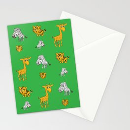 Cute Jungle Animals Pattern  Stationery Cards
