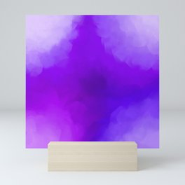Dreamy Lavender Indigo Clouds Abstract Mini Art Print