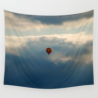balloon Wall Tapestries featuring Balloon by Claude Gariepy