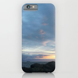 Ship at Sunset iPhone Case