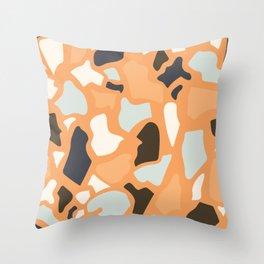 Abstract Terrazzo - Ginger Orange Throw Pillow
