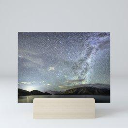 New Zealand Southern Hemisphere Skies Over Lake Wakatipu by OLena Art Mini Art Print