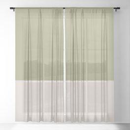 DESERT SAGE x SAND Sheer Curtain