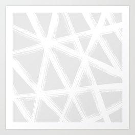 Pale Brushstrokes V2 Art Print