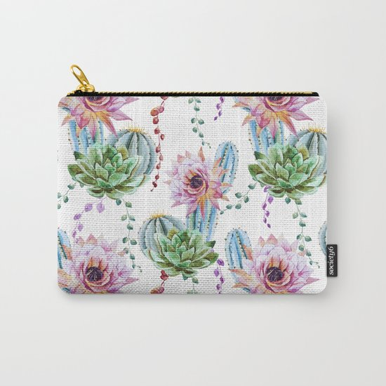 Cactus Pattern 08 Carry-All Pouch