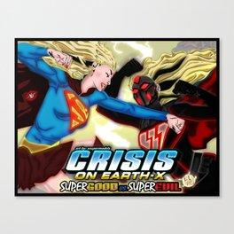 XSuperModels - SuperGoodVsSuperEvil Canvas Print