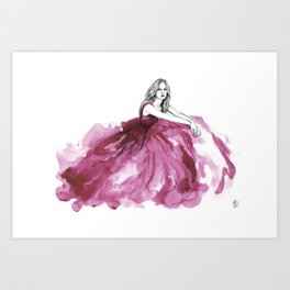 Gown Pink Art Print