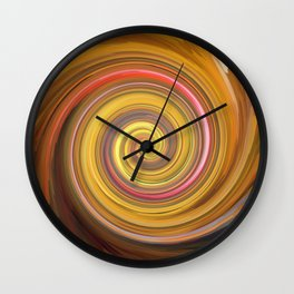 Swirls of digital paint Wall Clock